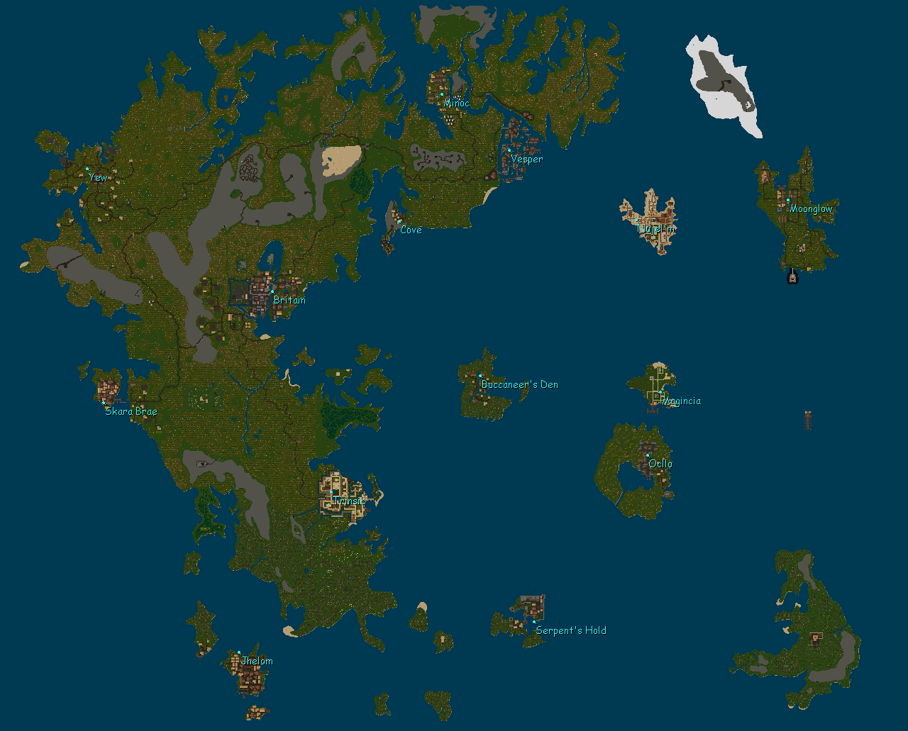 Online World Map images